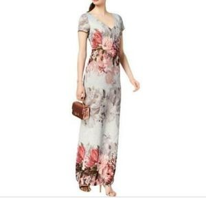 Adrienne Pappal Blue Ice Floral Gown